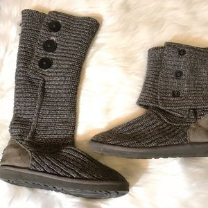 UGG Cardy Women's Knit Boot Size 8